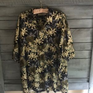 100% Silk Tommy Bahamas Shirt XXL
